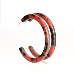 Haute Blooded brown hoop Acrylic
